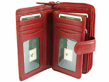 Visconti Ladies Large Multi Compartment Soft Leather Purse / Wallet - Red (HT33)