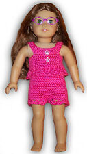 "LACEY TANKY & SHORTS CROCHET PATTERN - FITS AMERICAN OR 18"" GIRL DOLLS"