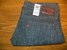 NEW Men's Levi's RED 38W 32L SKINNY Straight Fit Blue Jeans 38 waist 32 leg NWT