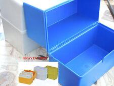 SCHEDARIO IN PLASTICA DIN A6 CON 100 SCHEDE 10.5 X 15.0 ORIZZONTALE AZZURRO