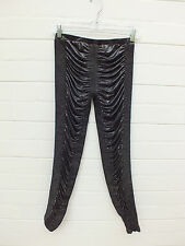 SASS & BIDE BABY DOLL DREAMER METALLIC SILVER BLACK RUCHE LEGGINGS PANTS RATS S