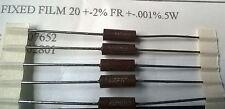 Vishay 50 un. RLR20C20R0GS 20R 0.5W 2% militar Spec resistencias de película metálica