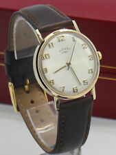Mens Vintage 1970s Rotary 9ct Solid Gold hand winding dress wristwatch