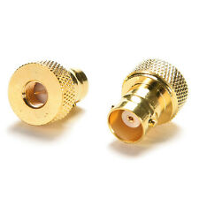 1x BNC Female Jack to SMA Male Plug RF Connector Straight Gold Plating Adapter