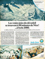 PUBLICITE ADVERTISING 085  1971  ISOLA 2000 station de ski à 90mn de NICE