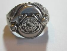 Vintage Sterling Silver United States Coast Guard Sweetheart Men's Ring