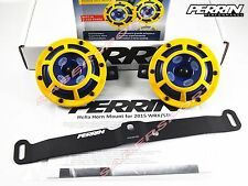Perrin Mounting Bracket + Hella Sharptone Horns (Yellow) for 2015-2016 WRX / STI