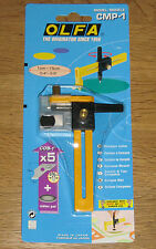 Olfa Compass Cutter CMP-1 Sewing Craft cuts Fabric Paper + 5 Blades COB-1