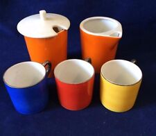 6 Pcs Mini Tea Cup/Mug ,tea and milk pot Different Multi-Colors Germany 31
