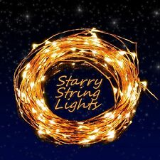 Warm White 10M 100LED Solar Powered Fairy String Lights Garden Christmas Outdoor