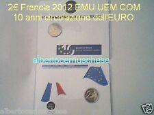 coin card 2 euro 2012 FRANCIA france frankreich Frankrijk Франция França TYE 10