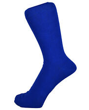 New Men Fashion Cotton Rich Mid Calf Plain Color Ankle Socks One Size 6 -11