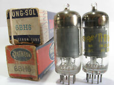 2 matched 1950's Tung-Sol/Raytheon 6BH6 tubes for Marantz 8B- Gray P,Top 'Fat-D'