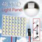48 SMD Pure White Light Panel T10 BA9S T4W Festoon Dome LED Interior Bulb Lamp