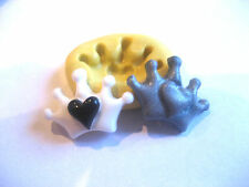 Tiny crown heart 20mm Flexible silicone flexible mold for chocolate fondant clay