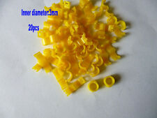 20 Pcs 3 mm Yellow Bird Ring Leg Bands Parrot Finch Canary Grouped