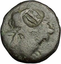 AIGAI in AEOLIS 2-1stCnBC Apollo Goat LYRE COUNTERMARK Ancient Greek Coin i52591