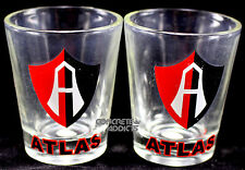 2 Club ATLAS Soccer futboll Team Tequilla Shot Glass Pair copita caballito New