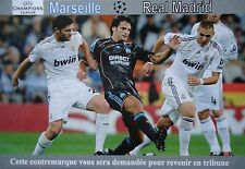 Karte UEFA CL 2009/10 Olympique Marseille - Real Madrid