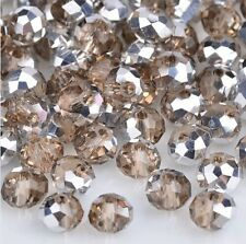 NEW Jewelry Faceted 100 pcs Silver Gray #5040 3x4mm Roundelle Crystal Beads C321