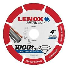 "NEW LENOX 1972920 4"" x 5/8"" METALMAX GRINDER METAL CUTTING CUT-OFF WHEEL SALE"