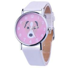 Women Casual Watch Cute Animal Leather Band Analog Quartz Vogue Wrist Watches WH