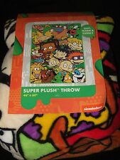 Nickelodeon Catdog Rugrats Ren And Stimpy Cartoon Characters Plush Throw Blanket