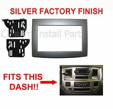 Dodge Ram 2006-2010 Silver Double Din Dash Kit Truck Car Stereo Radio Install