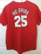 MLB St Louis Cardinals Mark McGwire #25 Shirt 1998 Home Run Champ Season Small