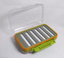TLFS Waterproof Fly Box Case Clear Double Sided EVA Foam Tackle Hook Storage