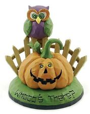 Blossom Bucket Halloween Figurine--Whooo's There Owl~~SO CUTE~~