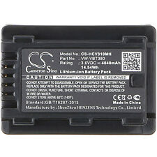 Batteria fotocamera HCV310 X-Longer PANASONIC HC-VX870 W570 4040mAh VW-VBT380