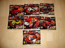 Lego Ferrari Shell all 7 packets - New/Sealed