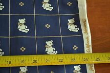 """By-the-Half-Yard, 44"""", Teddy Bears on Navy Quilter's Cotton, Hoffman Cal., M4927"""