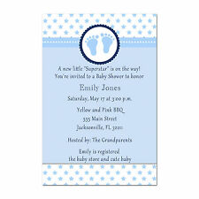 30 Superstar Invitation Cards Baby Boy Shower Invites Sports Personalized