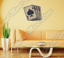 """Playing Card Aces Ace Deck Spades Poker Wall Sticker Room Interior Decor 22""""X22"""""""