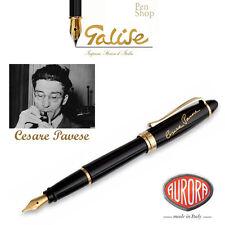 Aurora Ipsilon Cesare Pavese, penna stilografica M, Ed. Speciale, nero, fin. oro