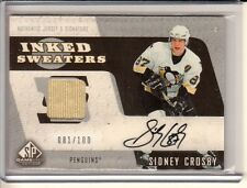 2006-07 SP Game Used SIDNEY CROSBY #ISSC Inked Sweaters AUTO JERSEY / 100