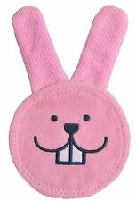 MAM Baby Oral Care Rabbit for Cleaning Palate & Gums: Cloth Glove Pink 0+ Months