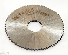slitting / slotting saw mill cutter disc hss 40mm 10mm shank 2pcs lot