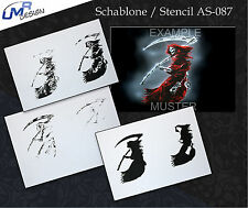 Step by Step Airbrush Stencil AS-087 M ~ Template ~ UMR-Design