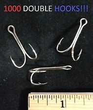 1000 Eagle Claw Sz.1 Curved-Point Nickel Double Hooks (3274DM-1) EB090201