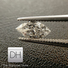 0.34 Ct. Loose Marquise Cut Natural Diamond H VS2 Real Ring Pendant Shape Gift