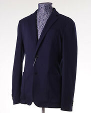 New Z ZEGNA Unstructured Medium Navy Blue Jersey Blazer 36 R Sport Coat