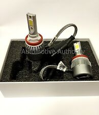 For 07-16 Chevy Tahoe 72W 7600LM COB LED Headlight Conversion Kit Bulb Beam H11