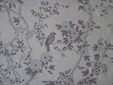 "RALPH LAUREN CURTAIN FABRIC ""Marlowe Floral Sheer"" 1 METRE DOVE VOILE (100cm)"