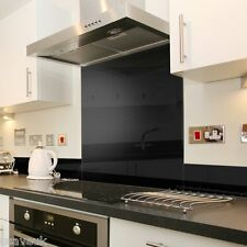 Black Glass Kitchen Splashback Splash Back - 60cm x 75cm