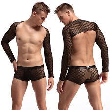 Male Sexy Mesh Bodysuit Bodywear Mens  Wrestling Singlet Underwear Nightwear