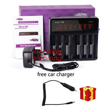 Efest LUC V6 LCD 3.7v 6 Bay 18650 26650 16340 14500 Li-ion battery charger