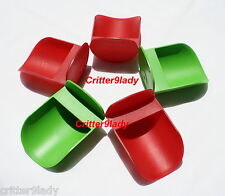 NEW Tupperware Lot of 5 Canister Rocker Scoops Green and Red